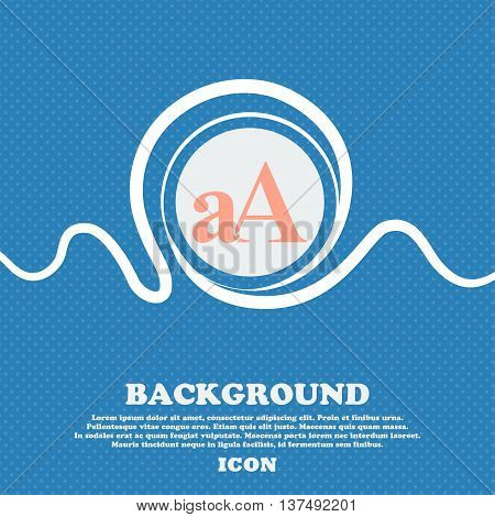 Enlarge Font, Aa Icon Sign. Blue And White Abstract Background Flecked With Space For Text And Your