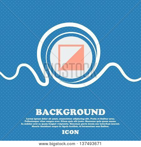 Contrast Icon Sign. Blue And White Abstract Background Flecked With Space For Text And Your Design.