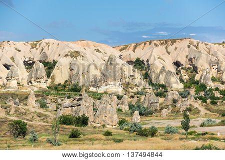 Mountains in Goreme national park Cappadocia Turkey