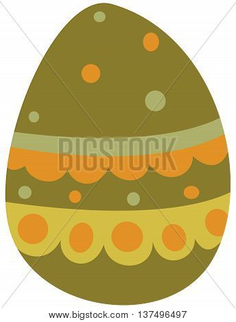 The color vector illustration - Funny Easter egg icon