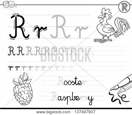 Learn To Write Letter R