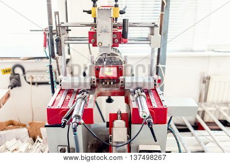 Industrial Drilling Machinery With Automatic Controls. Factory T