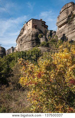Monastery Of St. Nikolas In Meteora, Greece