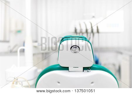 Dentist Office With Tools, Professional Dentist Chair And Equipm