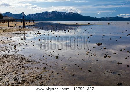 Lake Tahoe during the drought in summer 2015