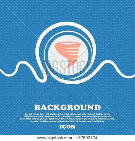 Tornado Icon. Blue And White Abstract Background Flecked With Space For Text And Your Design. Vector