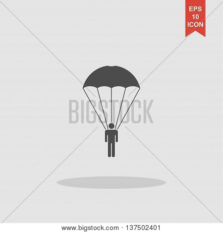 Parachute Jumper Vector Illustration