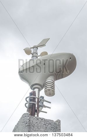Small home wireless Weather Station transmitter in sky