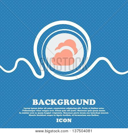 Cloud  Sign Icon. Blue And White Abstract Background Flecked With Space For Text And Your Design. Ve
