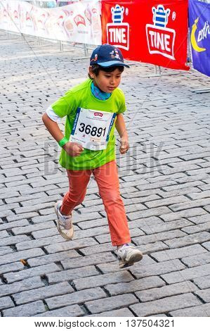 Children's Marathon In Oslo, Norway