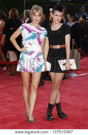 Laura Ramsey and Jena Malone at the Los Angeles premiere of 'Tropic Thunder' held at the Mann Village Theater in Westwood, USA on August 11, 2008.