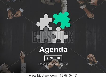 Agenda Meeting Plan Business Concept
