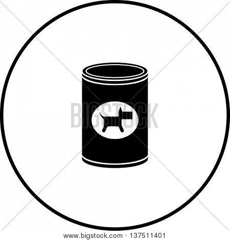 canned dog food symbol