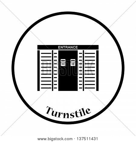 Stadium Entrance Turnstile Icon