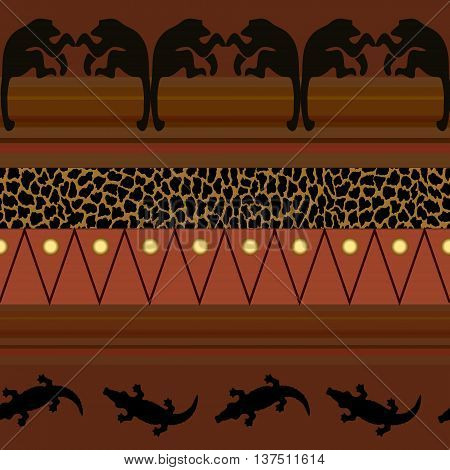 African style. Seamless pattern. Template textile endless