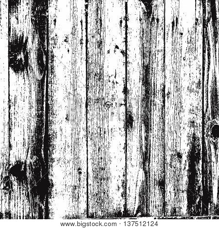 Distress Wooden Planks Overlay Texture For Your Design. EPS10 vector.