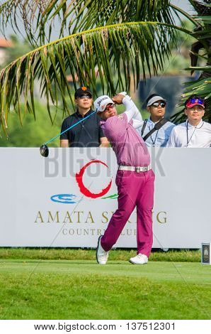 CHONBURI - DECEMBER 10 : Prayad Marksaeng of Thailand player in Thailand Golf Championship 2015 (Tournament on the Asian Tour) at Amata Spring Country Club on December 10 2015 in Chonburi Thailand.
