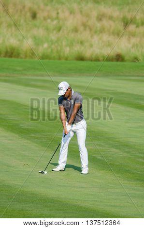 CHONBURI - DECEMBER 10 : Satoshi Kodaira of Japan player in Thailand Golf Championship 2015 at Amata Spring Country Club on December 10 2015 in Chonburi Thailand.