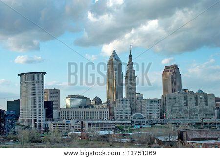 Horizonte de la ciudad Cleveland Ohio