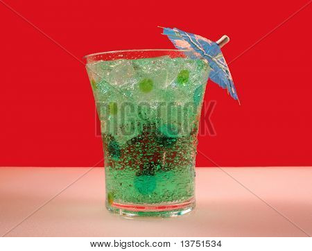 Cool and green tropical drink