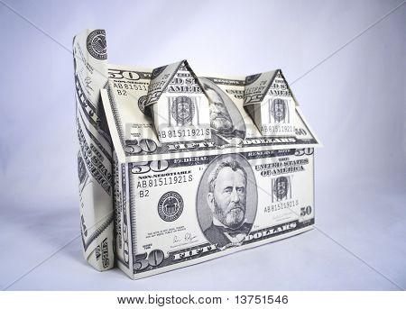 Una casa hecha de dinero, dólares