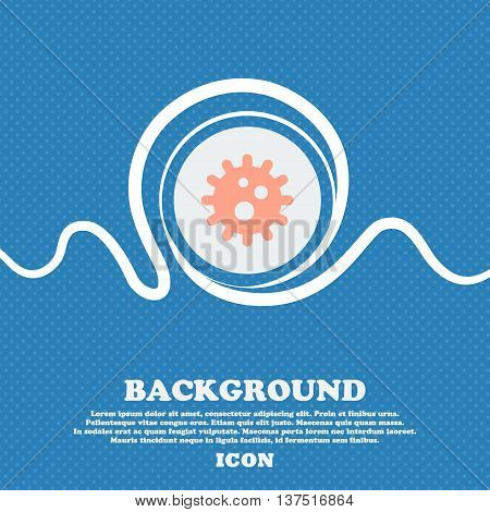 Naval Mine  Sign Icon. Blue And White Abstract Background Flecked With Space For Text And Your Desig