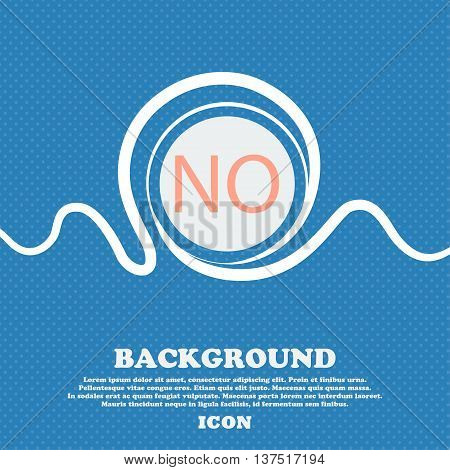 Norwegian Language Sign Icon. No Norway Translation Symbol. Blue And White Abstract Background Fleck