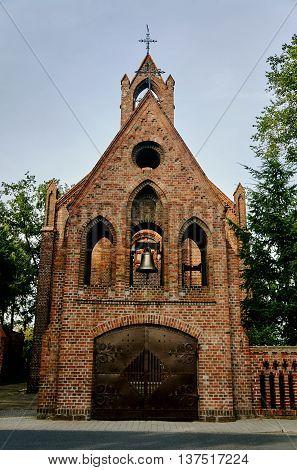 Gateway medieval collegiate Gothic style in Szamotuły
