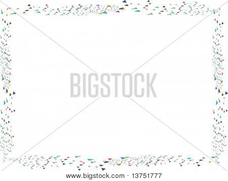 A fun confetti vector border