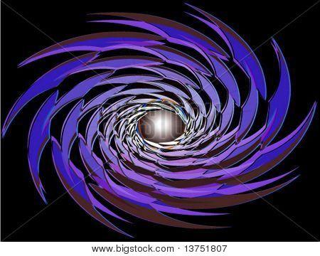 A warp type vector background