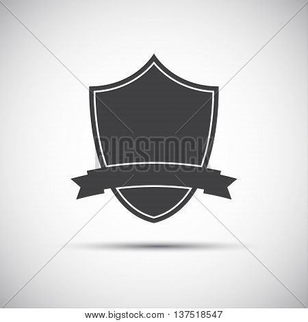 Simple shield icon flat style vector illustration