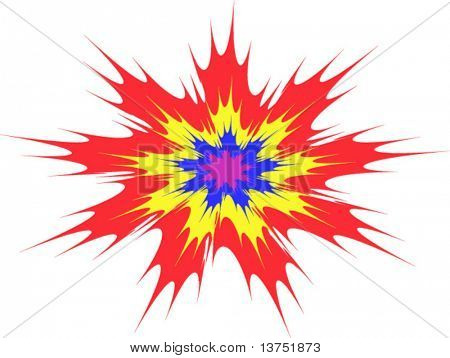 Explosion type vector abstract background