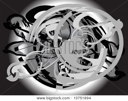 A abstract vector design