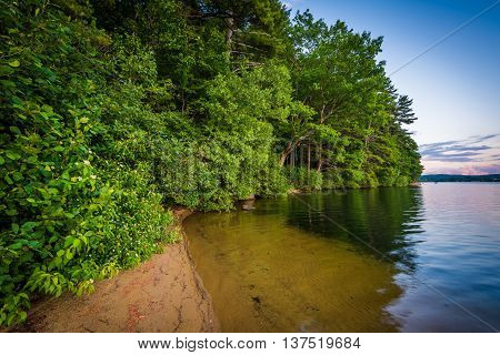 The Shore Of Winnisquam Lake, At Bond Park, In Laconia, New Hampshire.