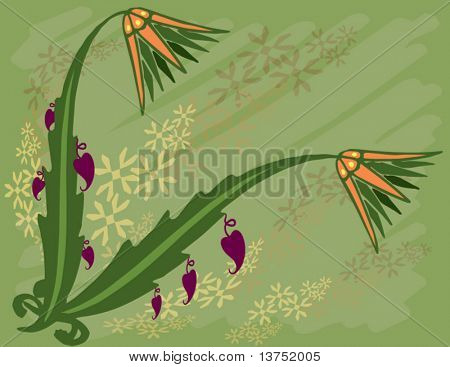 Nature vector with fruits. Change to any size or color you wish.