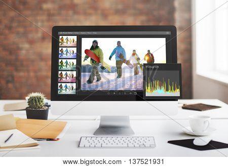 Photo Editor Histogram Setting Concept