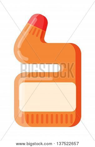 House hold bottle template and container bottle pack design bottle template. Bottle template plastic package. Blank package container dummy bottle template flat vector illustration.