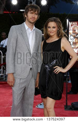 Alicia Silverstone and Christopher Jarecki at the Los Angeles premiere of 'Tropic Thunder' held at the Mann Village Theater in Westwood, USA on August 11, 2008.
