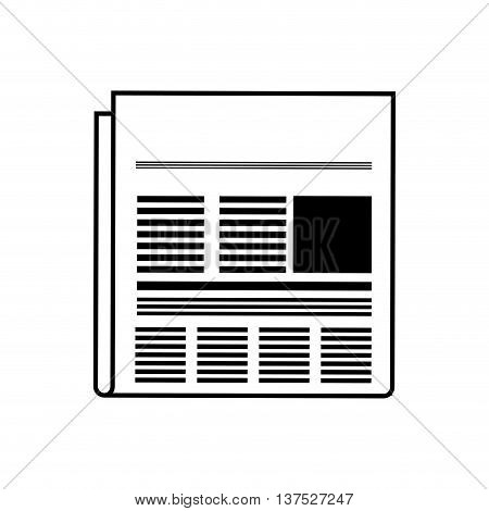 Broadcasting concept represented by news icon. isolated and flat illustration
