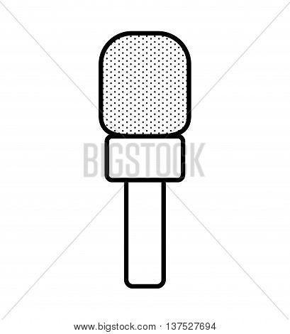 Broadcasting concept represented by microphone icon. isolated and flat illustration