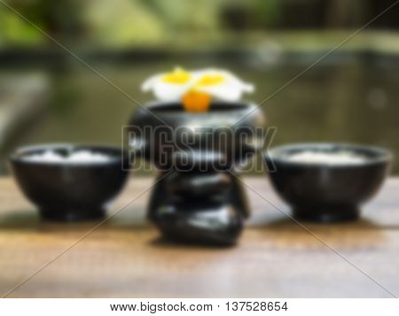 Blurry Spa massage with salt, turmeric and rock spa, Thailand