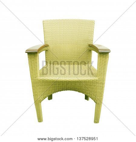 The Chairs made of woven plastic background texture.