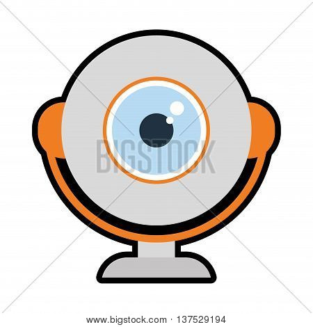 Gadget and technology concept represented by webcam icon. isolated and flat illustration