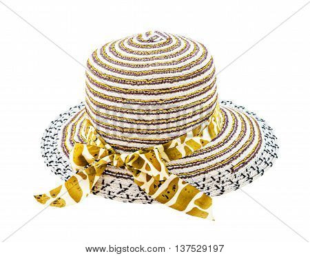 Beautiful women hat isolated on white background Saved clipping path.