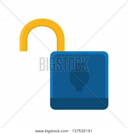Security concept represented by padlock icon. isolated and flat illustration