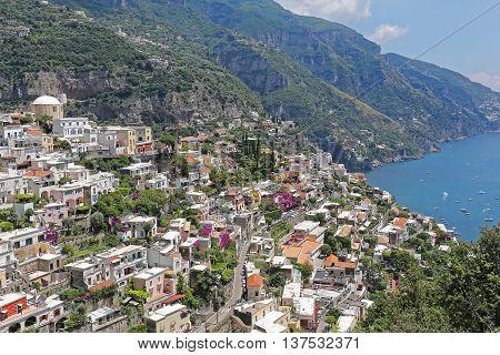 Picturesque Village Positano at Amalfi Coast Italy