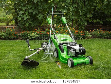 Outdoor Shot Of Garden Equipment.