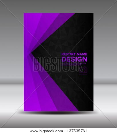 Purple Cover design Annual report vector templater illustration booklet poster Brochure flyer