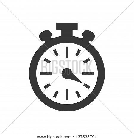 Time concept represented by chronometer icon. isolated and flat illustration
