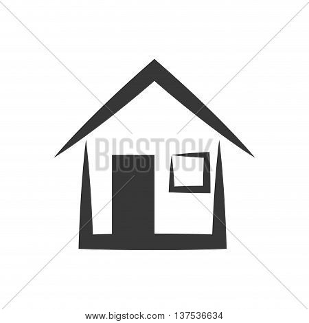 Building concept represented by house  icon. isolated and flat illustration